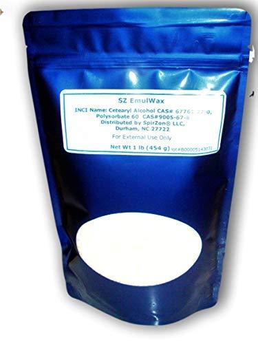 SZ EmulWax 1 Lb (Emulsifying Wax) by SpirZon LLC