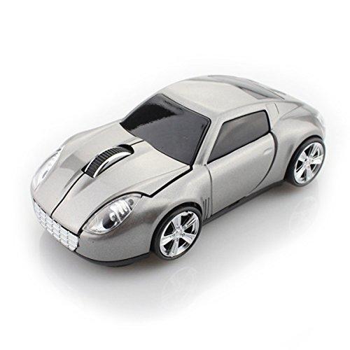 Spa-retail-box (spectronix Porsche 911geformte Kabelloser Sport Auto Maus Optische & Ergonomisches Design mit Nano-USB-Empfänger 10Meter Reichweite 2,4GHz Gaming Maus in Retail Box für Laptops und PCs 3kräftigen Farben)