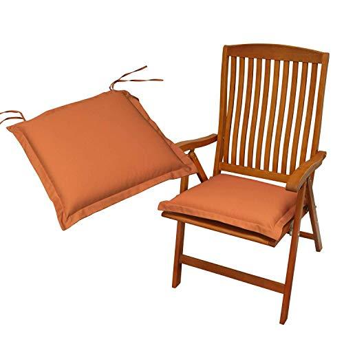 Indoba 2 x Sitzkissen Premium Polsterauflagen, Terra