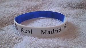 REAL MADRID silicone bleu et blanc bracelet