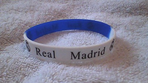 REAL MADRID blau und weiß Silikon-Armband (Real Madrid Stirnband)
