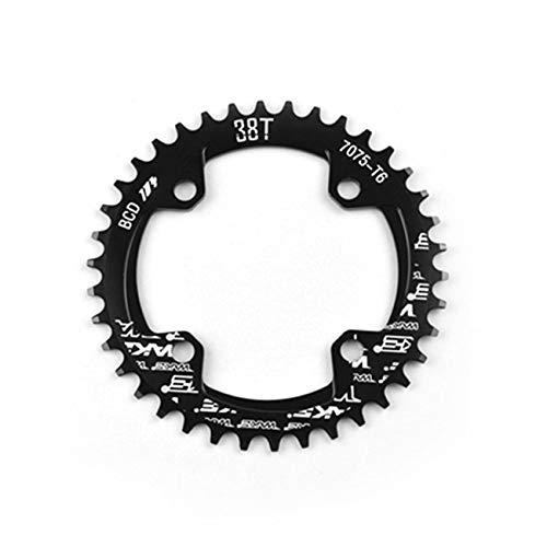 Elviray MTB Bike Schmale Breite Runde Kettenblatt Kettenblatt 104mm BCD Kurbel 32 T 34 T 36 T 38 T CNC Aluminiumlegierung Radfahren Zubehör