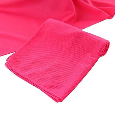 Gaddrt Sensation de froid plage serviette séchage voyage sport natation bain corps TowelYoga mat (Rouge)