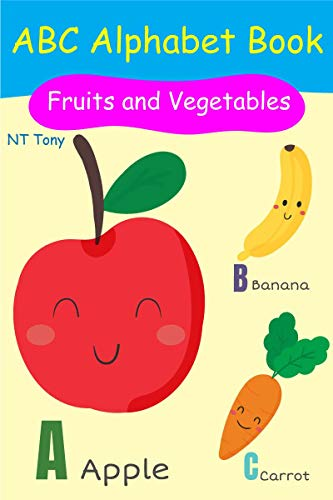abc alphabet book for fruits and vegetables :  flash cards for kids (Flash card series 1) (English Edition)
