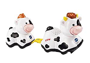 Vtech – Toot Toot Animals – Mummy & Baby Cow – Tut Tut Animo Vache & Veau Version Anglaise