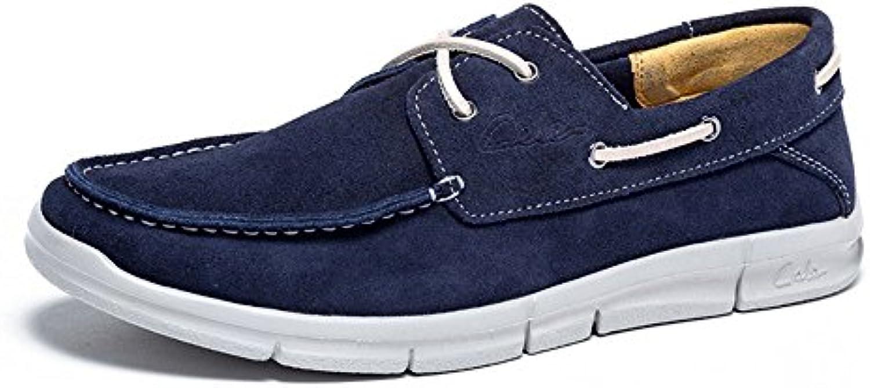 Zapatos de Cordones de velero de Cuero Cómodos Ocasionales de los Hombres