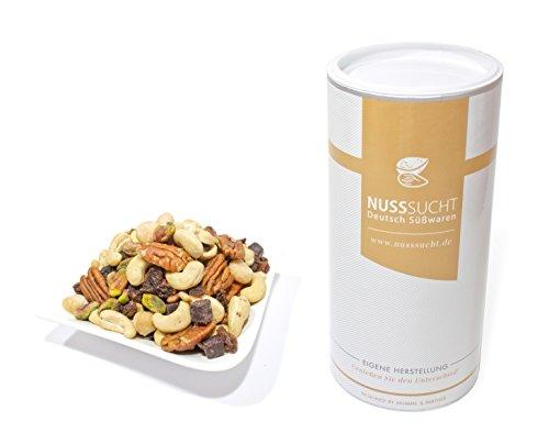 Nussmischung Deluxe geröstet | Inhalt: 500g | Cashewkerne, Macadamia, Pecannüsse, Pistazien, Rosinen, Acai-Würfel | ohne Zusatz- und Konservierungsstoffe