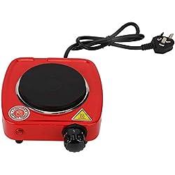 Mini poêle électrique, 500W rouge à lèvres domestique poêle électrique chauffage four réglage de la température chauffage plaque unique plaque de cuisson petites plaques chauffantes