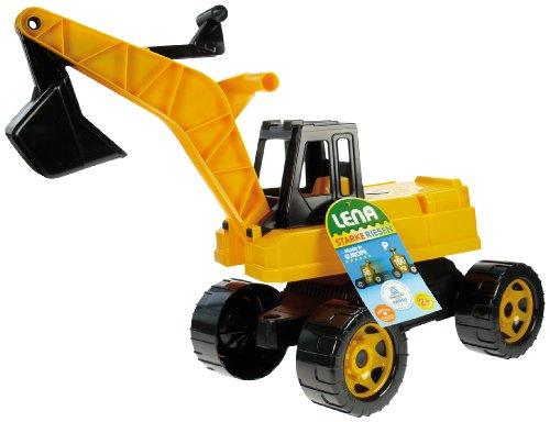 LENA 02017 Starke Riesen Bagger, schwarz/gelb, lose
