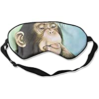 Sleep Eye Mask Cute Chimpanzee Lightweight Soft Blindfold Adjustable Head Strap Eyeshade Travel Eyepatch preisvergleich bei billige-tabletten.eu