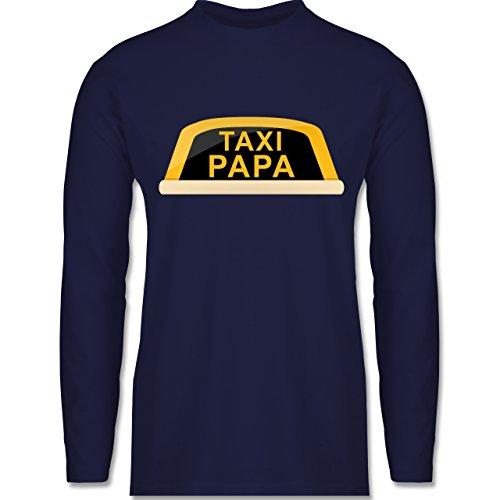 Shirtracer Vatertag - Taxi Papa - Herren Langarmshirt Navy Blau