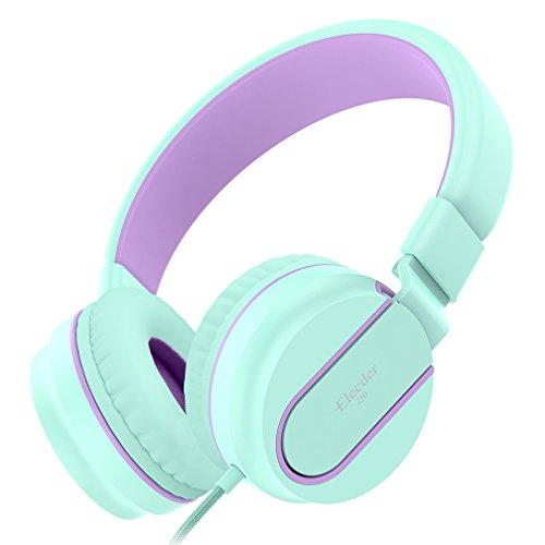 Kinder-Kopfhörer, Elecder i36 Volumen Limited Kopfhörer für Kinder, Jugendliche, Erwachsene, leicht faltbar verstellbar Telefon Kontrolle Headsets mit Mikrofon für Handys Computer MP3/4