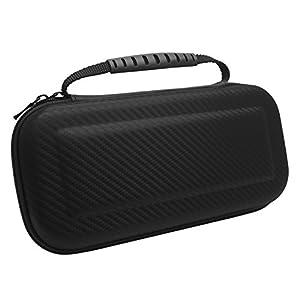 Nintendo Switch Case von Home-Wize®. Premium EVA Solid Hard Shell Design Tragen Reisen Schlank Grau Aufbewahrungsbox, Staub und Kratzer Beweis