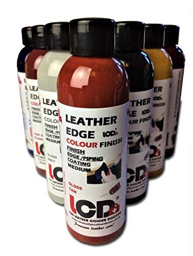 Finiture in vernice per bordi in pelle, colorante per lavori artigianali, rifinitura con cappotto. 100 ml. 100 ml Deep Black