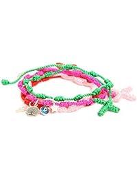 Córdoba Jewels | Set de pulseras en plata de Ley 925. Diseño Decenario Colors Charm