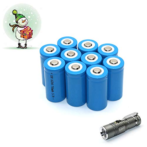 10-Pack 1634o CR123A 3.7V Wiederaufladbare Akku Li-ion Batterie + LED-Taschenlampe Set Li-ion Led