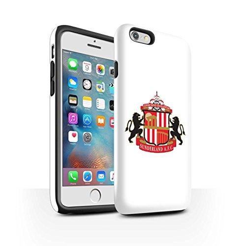 Offiziell Sunderland AFC Hülle / Glanz Harten Stoßfest Case für Apple iPhone 6S+/Plus / Pack 6pcs Muster / SAFC Fußball Crest Kollektion Weiß