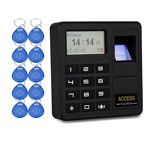 YAVIS Codeschloss Türöffner Fingerprint Access Control Biometrische 125KHz Einzeltür Proximity RFID Karte Zutrittskontrollsystem Tastatur Enthalten 10 stücke ID Keyfobs Proximity Access Control System