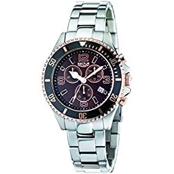 Sector Men's Quartz Watch with Brown Dial Chronograph Display and Silver Stainless Steel Bracelet R3273661004