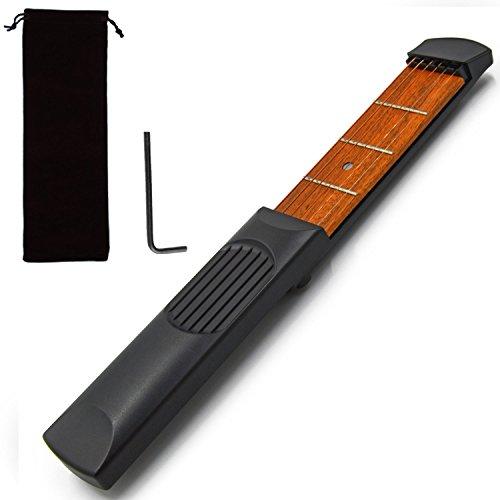 Gosear Portable Tasche Gitarre Praxis Streicher Ausbildung Werkzeug Trainer Gadget Modell 6 Streicher für Anfänger Verbesserung der Finger Geschicklichkeit (Ausbildung Storage)