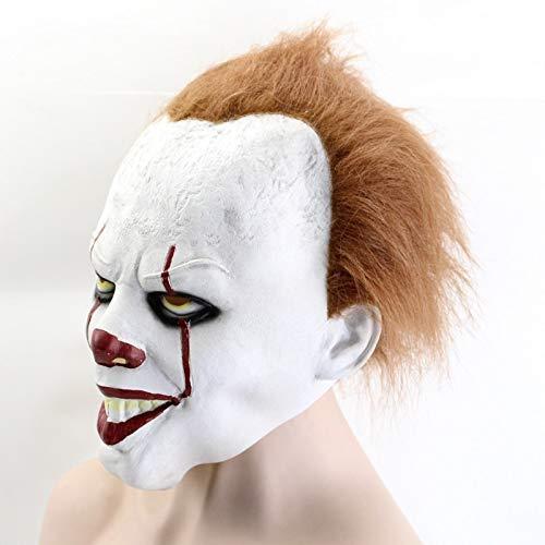Cosplay Halloween Party Prop Clown Maske Latex Der Film Stephen Kings Es Pennywise Clown Joker Maske Tim Curry Schreckliche Masken (Halloween-kostüme King-es Stephen)