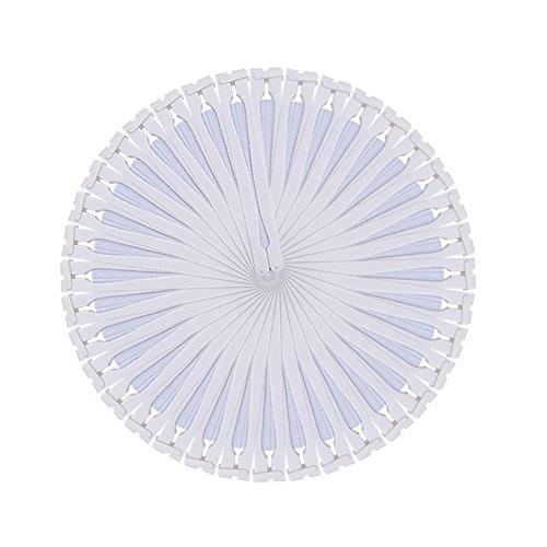 60 weiße Klappfächer