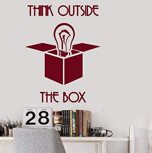 Pbldb 42X54 Cm Wandtattoo Inspirational Zitate Denken Außerhalb Der Box Wandaufkleber Büro Interior Removable Dekor Dunkelrot