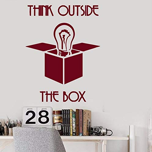 attoo Inspirational Zitate Denken Außerhalb Der Box Wandaufkleber Büro Interior Removable Dekor Dunkelrot ()
