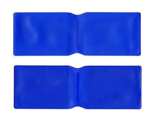 10 x Dunkelblau Kunststoff Oyster Card Wallet/Kreditkarte Halterung/ID Card Wallet/Visitenkarten/Reise Pass Cover – Made in the UK