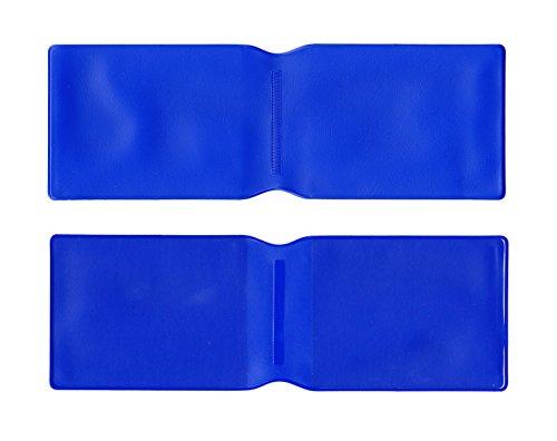 10x Dunkelblau Kunststoff Oyster Card Wallet/Kreditkarte Halterung/ID Card Wallet/Visitenkarten/Reise Pass Cover–Made in the UK