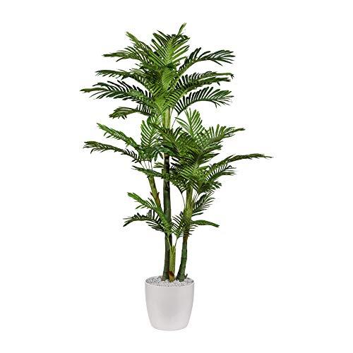 wohnfuehlidee Kunstpflanze Areca nolina Palme grün, im Kunststoff-Topf, Höhe ca. 170 cm