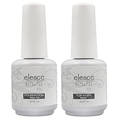 Eleacc 2 x Nail Art UV/LED Lamp Gel Polish Gelpolish Base Top Coat Primer Foundation Long-lasting