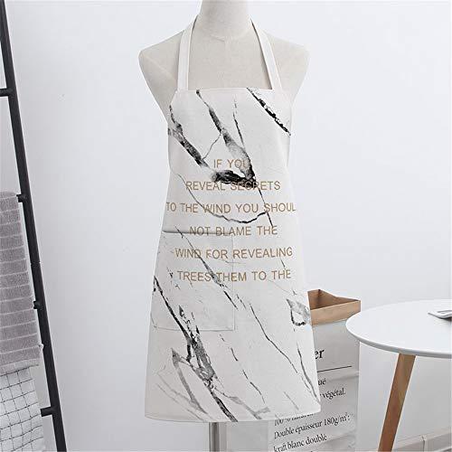 YXDZ Schürze Marmor Paar Mode Ärmellose Stoff Hause Küche Backen Kochen Männer Und Frauen Taille Taille Koch Kleid Marmor 8
