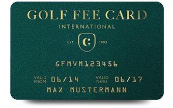 Golf Fee Card® - card golf per agevolazioni speciali, ad esempio greenfee gratuito, buono per autonoleggio SIXT, 10% di sconto outlet, 4% di sconto su booking.com, Guida Golf Golfführer (lingua tedesca) con carnet di buoni, spedito in scatola regalo
