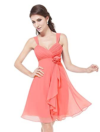 HE03266RD14, Pink, 14UK, Ever Pretty Back To School Party Dress For Teens 03266