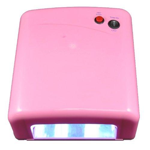Beauties Factory 36W UV Gel Nail Art Curing Dryer Lamp Light & 5x 9W UV Light Bulb