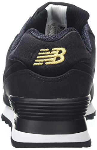 New Balance 574, Sneaker Uomo Nero (Black)