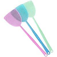 July Miracle - Matamoscas (3 unidades, plástico), diseño de insectos, color azul, verde y lila