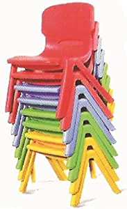 Learners World Plastic Moulded Chair Furniture,Multi Color