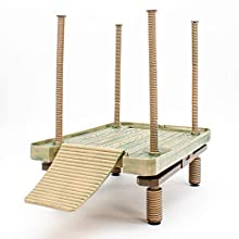 Penn-Plax Reptology Floating Turtle Pier and Basking Platform – Decorative, Functional, and Naturally Inspired – Large Size (Model Number: REP603)