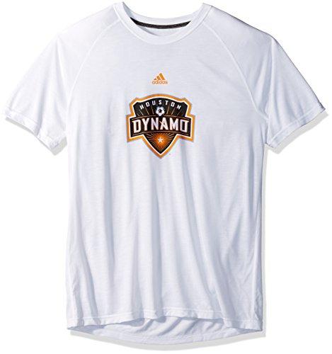 adidas MLS Houston Dynamo Damen Phase Hat Haken Ultimate Short Sleeve V Tee, groß, weiß