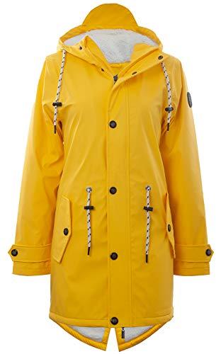 Friesennerz | Maritime Jacke | Regenjacke | veredelt | Das Original aus Ostfriesland in 2 Modell Norderney (3XL, Gelb mit Fleece)