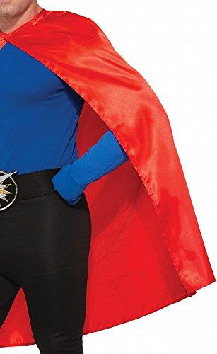 shoperama Accessoires für Superhero Herren Kostüm, Umhang Rot