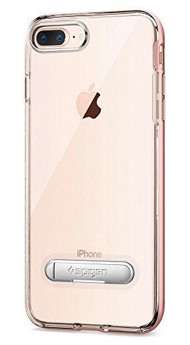 iPhone 8 PLUS / 7 PLUS Hülle, Spigen® [Crystal Hybrid] iPhone 8 PLUS Hülle, Integrierter Metall-Kickstand [Gunmetal] Durchsichtiges TPU / PC - 2-teiliges Premium Case Schutzhülle für Apple iPhone 7 PL CH Rose Gold