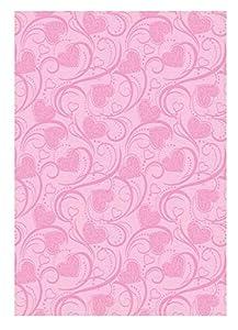Ursus 60750007 Deluxe - Caja de cartón, 10 Hojas, 300 g/m², Aprox. 23 x 33 cm, de celulosa Fresca, teñida, injertada por una Cara con Barniz Brillante, Palillos de corazón, Color Rosa.