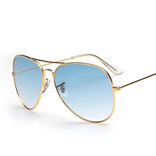 Occhiali da sole a gradiente colorati uomini e donne scatola grande che lecca occhiali da guida bicolore a due raggi occhiali da guida fashion business sport,a-onesize