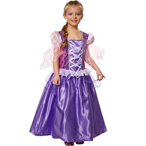 dressforfun 900351 - Costume da Bambina Principessa Lavendela, Abito con Allacciatura a stringhe applicata, Gonna lunga fino a terra a più strati (152 | Nr. 301745)