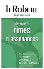 Dictionnaire des rimes et assonances - Grand format de Armel Louis