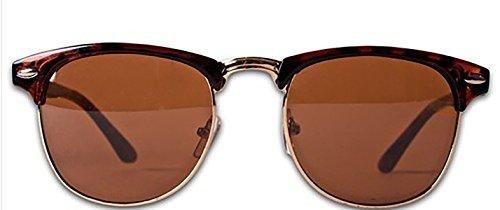 4sold (TM New Two Tone Red & Black Klassische Unisex (Männer, Frauen) Aussenseiter-Art Retro-1980er Mode Sonnenbrillen mit geräuchertem Objektive Offe (retro braun)