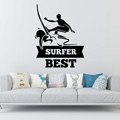 Farbe Surfen, Vinyl selbstklebende Tapete, Kinderzimmer Wanddekoration, dekorative Accessoires, Wandbild Schlafzimmer Wandaufkleber